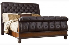 Grand Estates Cinnamon Sleigh Bed