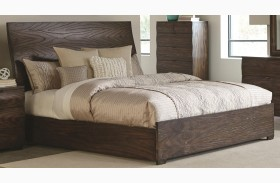 Calabasas Dark Brown Panel Bed