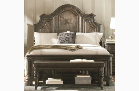 Carlsbad Dark Brown Panel Bed