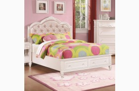 Caroline Diamond Tufted Youth Storage Platform Bed