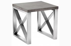 Catalan Concrete Top End Table