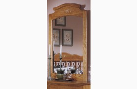 Carolina Golden Oak Vertical Mirror