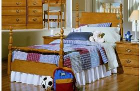 Carolina Golden Oak Youth Poster Bed
