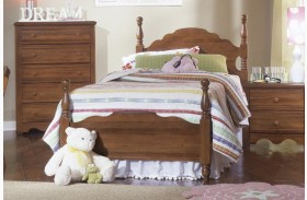 Carolina Crossroads Brown Cherry Youth Panel Bed