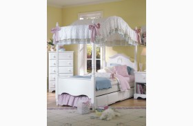 Carolina Cottage White Youth Poster Canopy Bed