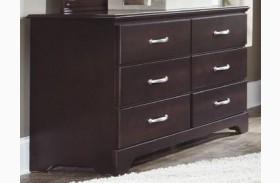 Signature Espresso Finish 6 Drawer Double Dresser