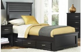 Platinum Black Youth Panel Storage Bed