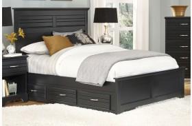Platinum Black Panel Storage Bed
