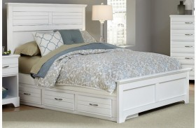 Platinum White Panel Storage Bed