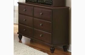 Carolina Craftsman Espresso Finish 6 Drawer Double Dresser