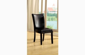 Lamia I Leatherette Side Chair Set of 2