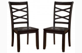 Giselle Espresso Finish Side Chair Set Of 2