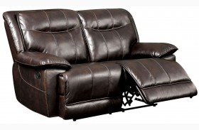 Dolton Brown Finish Reclining Loveseat