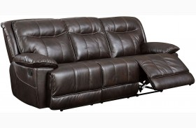 Dolton Brown Finish Reclining Sofa