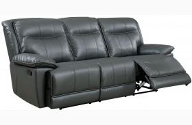 Dolton Gray Finish Reclining Sofa