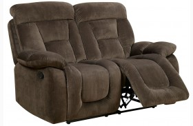 Bloomington Brown Finish Reclining Loveseat