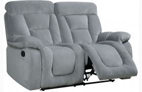 Bloomington Gray Finish Reclining Loveseat
