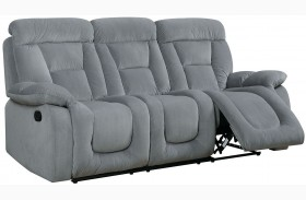 Bloomington Gray Finish Reclining Sofa