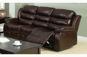 Berkshire Rustic Brown Finish Reclining Sofa