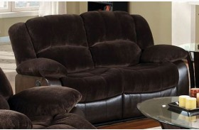 Winslow Rustic Brown Finish Reclining Loveseat