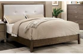 Enrico I Gray Finish Upholstered Bed