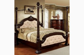 Monte Vista I Leatherette Poster Canopy Bed