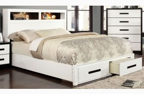 Rutger White Storage Bed