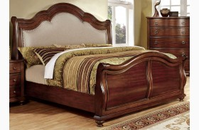 Bellavista Brown Cherry Sleigh Bed