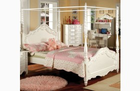 Victoria Pearl White Youth Poster Bed