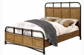 Mcville Dark Oak Finish Panel Bed