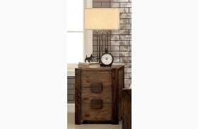 Aveiro Rustic Natural Finish Nightstand