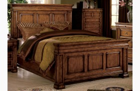 Cambridge Rich Tobacco Oak Panel Bed