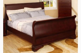 Laurelle Cherry Youth Sleigh Bed