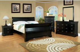 Laurelle Black Sleigh Bed