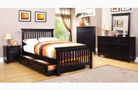 Caspian Black Youth Panel Bed
