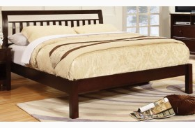 Corry Dark Walnut Platform Bed