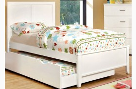 Prismo White Youth Platform Bed
