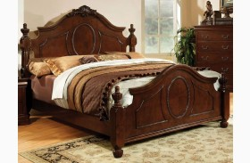 Velda II Brown Cherry Panel Bed