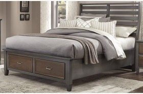 Commentary Steel And Oak Benchback Storage Bed