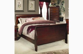 Louis Philippe Cherry Sleigh Bed
