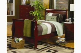 Louis Philippe Cherry Youth Sleigh Bed