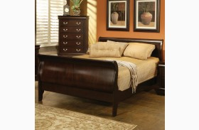 Louis Philippe Deep Cappuccino Sleigh Bed