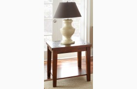 Davenport Medium Brown Finish Chairside End Table