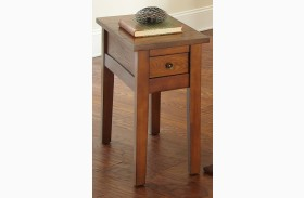 Desoto Medium Red Oak Finish Chairside End Table