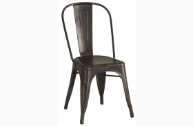 Bellevue Black Finish Metal Dining Chair Set of 4
