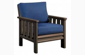 Stratford Chair With Indigo Blue Sunbrella Cushions