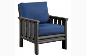 Stratford Chair With Indigo Blue Sunbrella Cushions