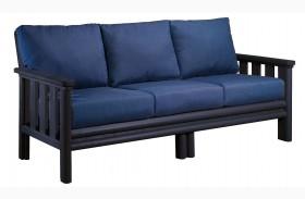 Stratford Sofa With Indigo Blue Sunbrella Cushions Sunbrella Cushions