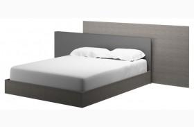 Vivente Forte Matte Gray Platform Bed