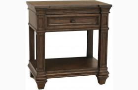 Gallatin Timeworn Mahogany Finish Bedside Table
